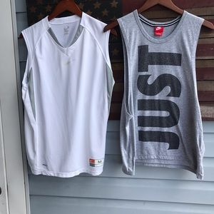 2 men's medium athletic tops shirts tanks ⭐️